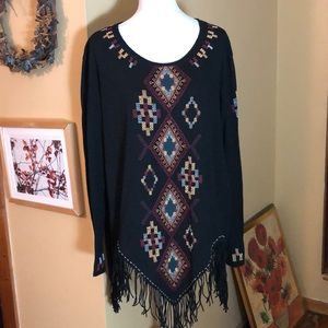 DOUBLE D RANCH size 1x Beaded Tunic $295 NEW